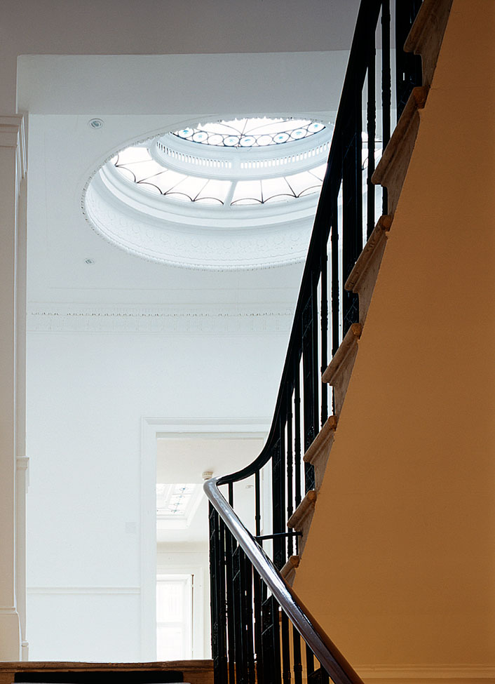 Fitzroy Square rooflight and stair
