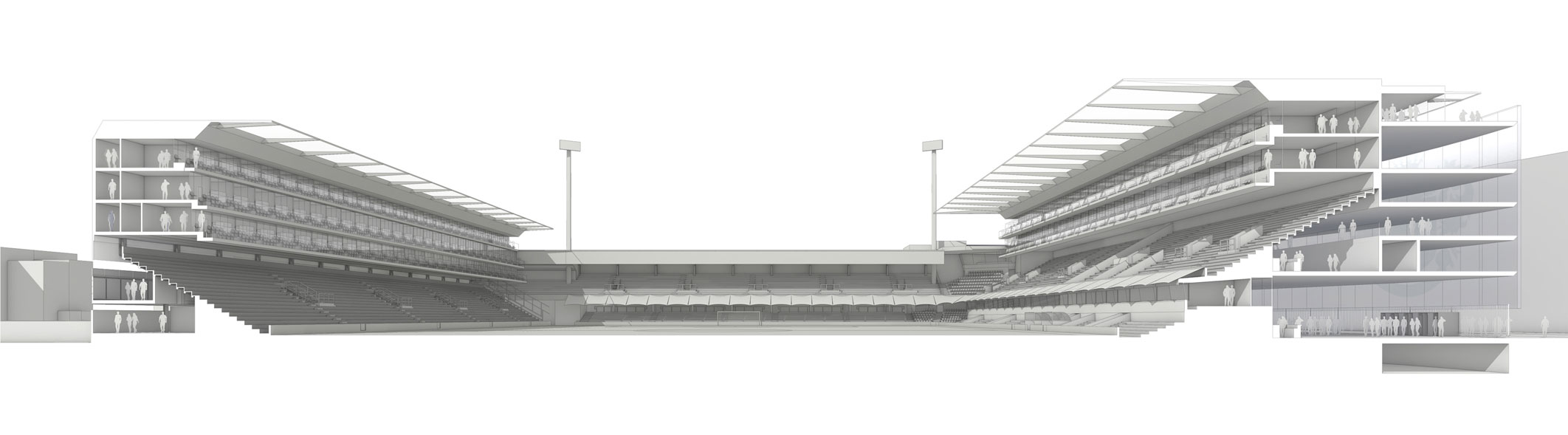 QPR Stadium sectional view