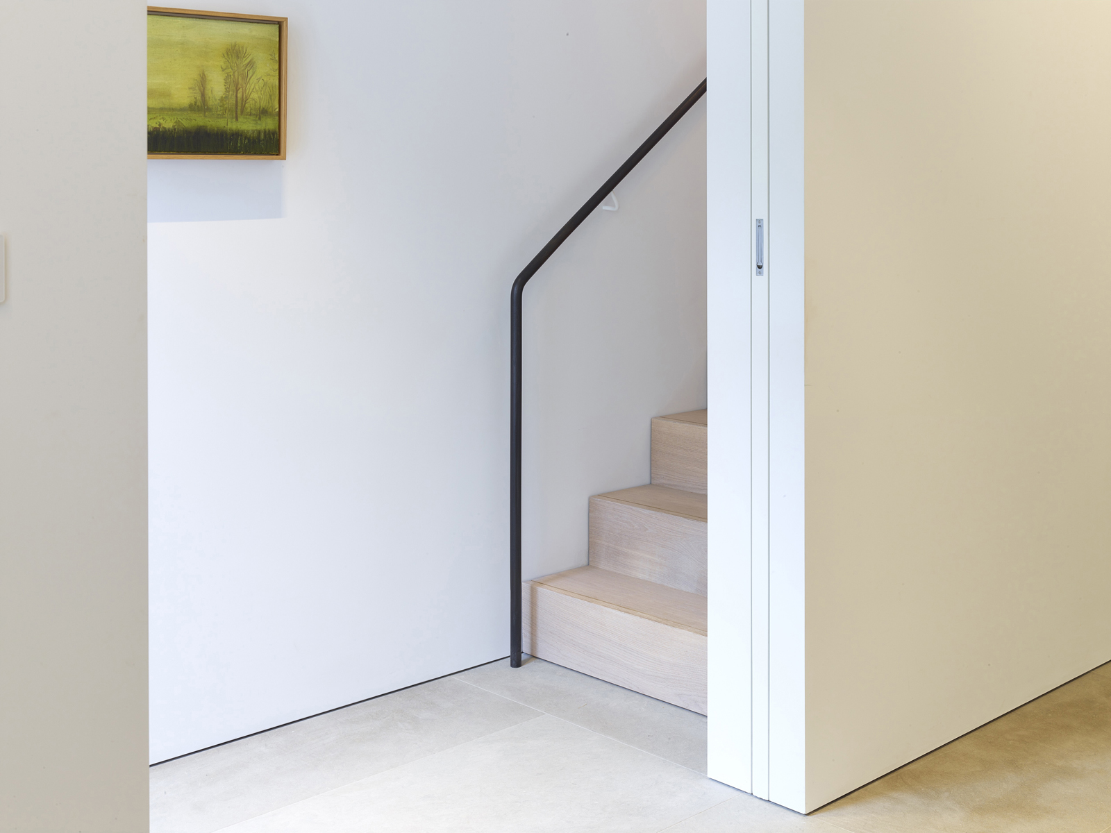 stair and sliding pocket door