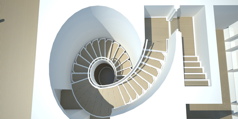 Yacht Style Helical Stair