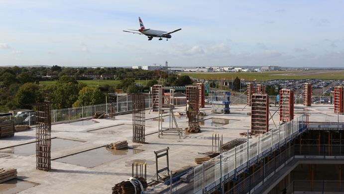 On Site Construction Heathrow Runway
